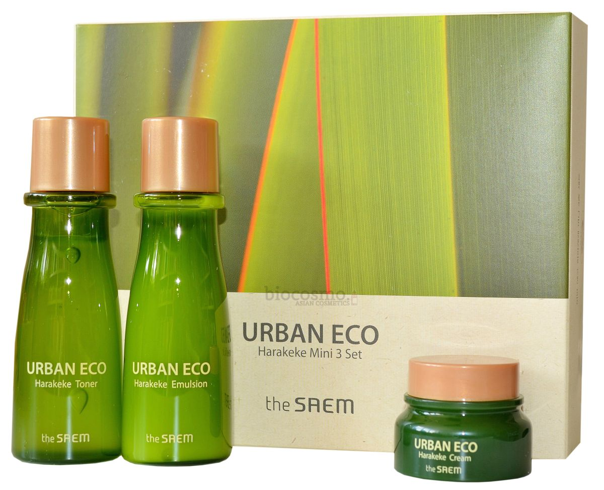Набор миниатюр для лица с новозеландским льном THE SAEM Urban Eco Harakeke Mini 3 Set - 31мл+31мл+8мл